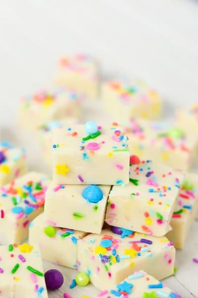 Gluten Free Cake Batter Fudge Picture
