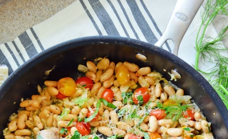 Italian Sausage and White Beans Skillet Pic