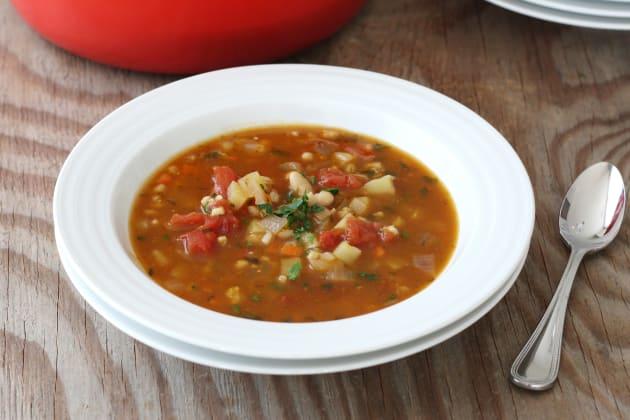Vegetable Barley Soup Photo