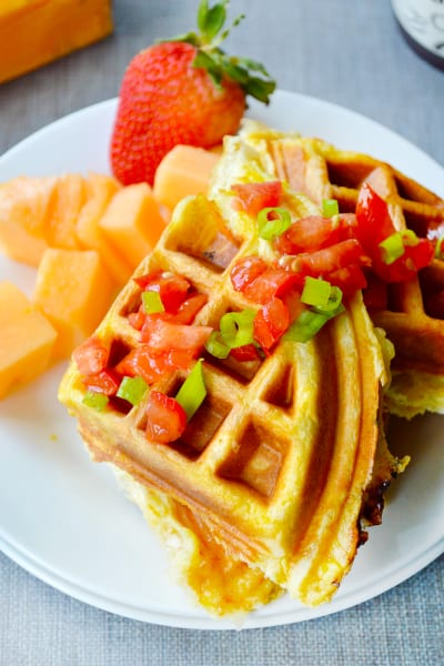 Egg and Cheese Waffle Sandwiches Image