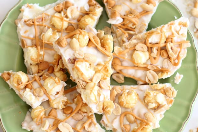 Salted Peanut Butterscotch Caramel Corn Bark Photo