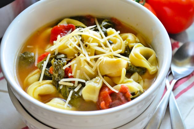 Instant Pot Tortellini Soup with Spinach Image