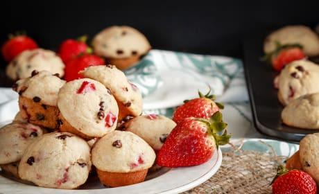Mini Strawberry Chocolate Chip Muffins Image