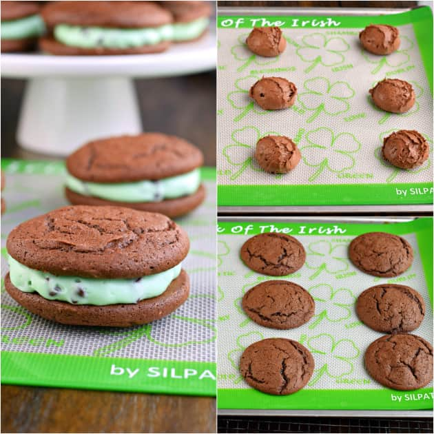 Mint Chocolate Chip Whoopie Pies - Food Fanatic