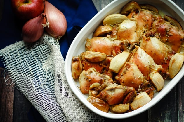 Baked Rosemary Chicken with Apples Photo