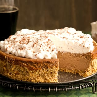 Chocolate stout cheesecake photo