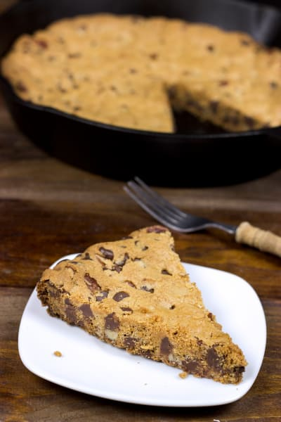 Cast Iron Chocolate Chip Cookie Picture