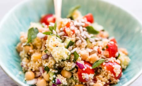 Mediterranean Chopped Chickpea Couscous Salad Recipe