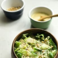 Romaine Lettuce with a Creamy Roasted Garlic Dressing