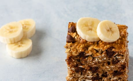 Chocolate Chip Banana Oatmeal Bars Photo