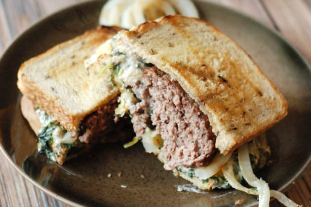Spinach Artichoke Patty Melt Photo