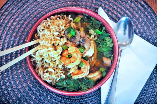 Miso Shrimp Soup with Ramen Pic