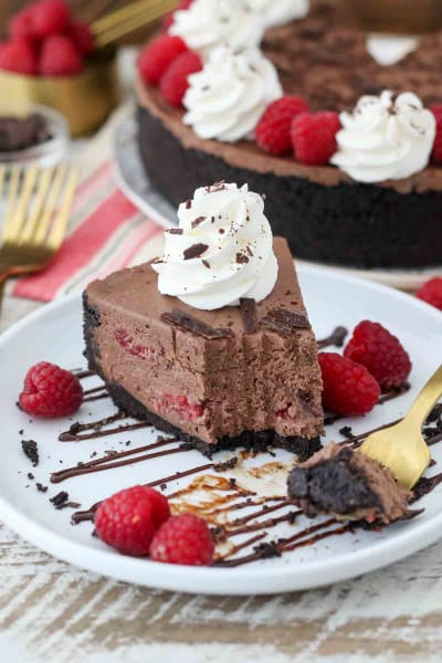 File 2 No-Bake Chocolate Raspberry Cheesecake