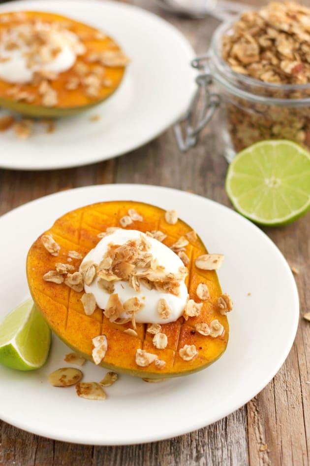 Broiled Mango with Greek Yogurt Pic