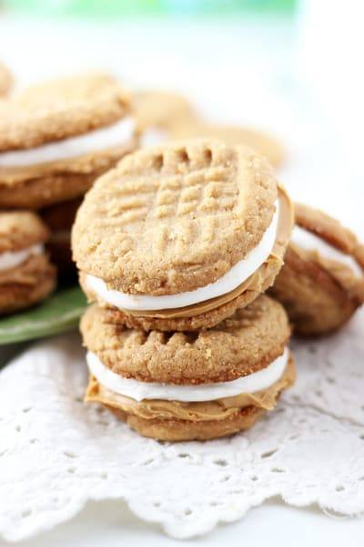 Fluffernutter Cookie Sandwiches Image