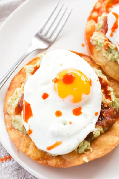 Breakfast Tostadas with Guacamole Pic