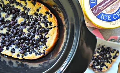 Slow Cooker Blueberry Cobbler Recipe