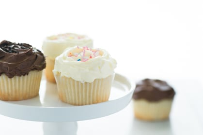 One Dozen Gluten Free Vanilla Cupcakes Recipe