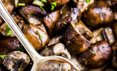 Garlic Butter Baked Mushrooms Picture