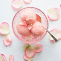 Mothers Day Prosecco, Strawberry and Rose Sorbet
