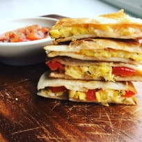 Egg Cheese and Red Pepper Quesadilla