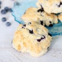 Homemade Starbucks Lemon Blueberry Scones Recipe