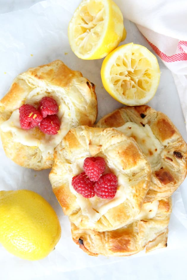 Lemon Raspberry Danish Pic
