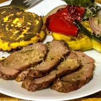 Oven Baked Pork Tenderloin and Italian Vegetables