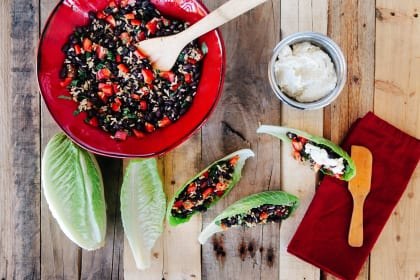 Delicious Black Bean Wraps with Cashew Cream
