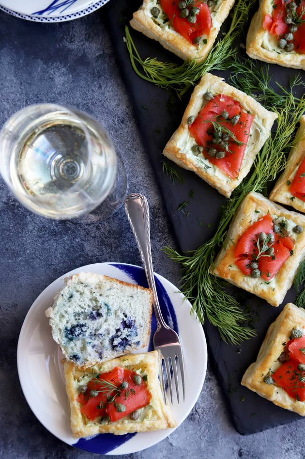Smoked Salmon Avocado Cream Cheese Pastries Image