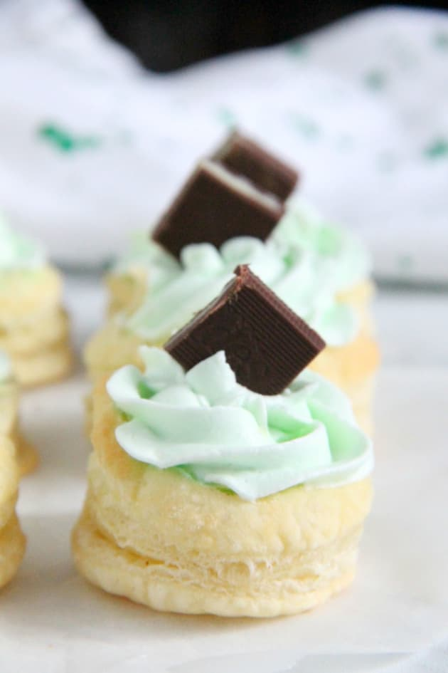 Mint Chocolate Puff Pastry Tartlets Image