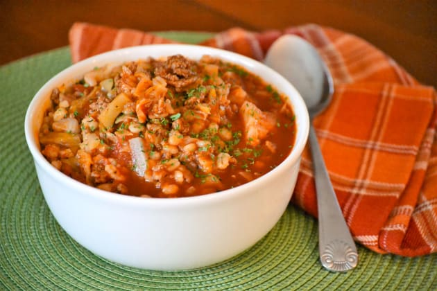 Stuffed Cabbage Soup with Barley Image