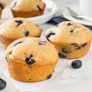 Blueberry chai muffins photo