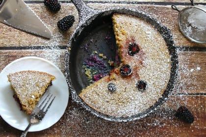 Gluten Free Skillet Blackberry Cake