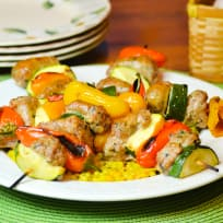 Oven Roasted Sausage Kabobs Recipe