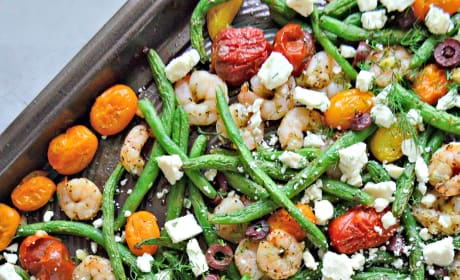 Sheet Pan Greek Shrimp Dinner Picture