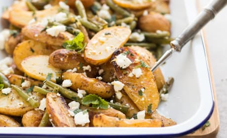 Greek Roasted Potatoes and Green Beans Recipe