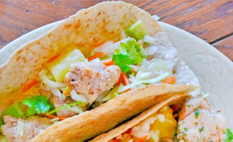Jerk Fish Tacos with Pineapple Slaw Picture