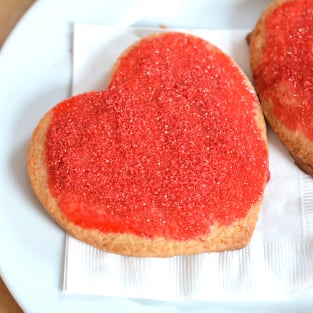 Homemade panera bread valentine cookies photo