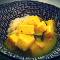 Turmeric Tofu with Coconut Milk
