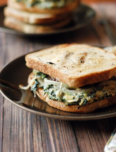 Spinach Artichoke Patty Melt Image