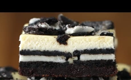 How to Make Cookies & Cream Brownie Cheesecake Bars