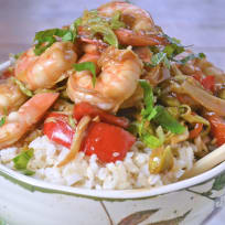 Asian Shrimp Rice Bowls Recipe