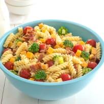 Bacon Cheddar Ranch Pasta Salad Recipe