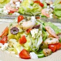 Mediterranean Shrimp Wedge Salad Recipe