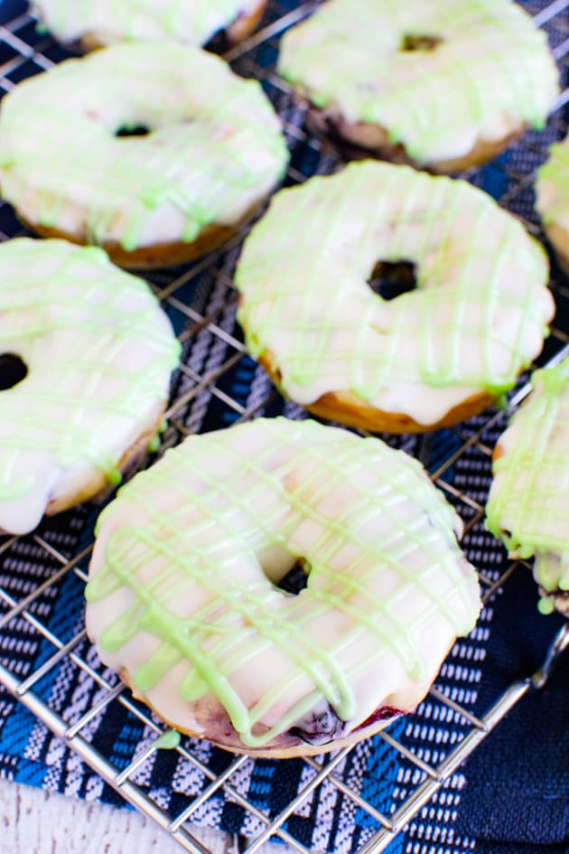 Blueberry Key Lime Donuts Pic