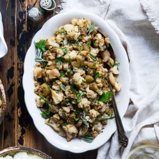 Cauliflower rice stuffing photo