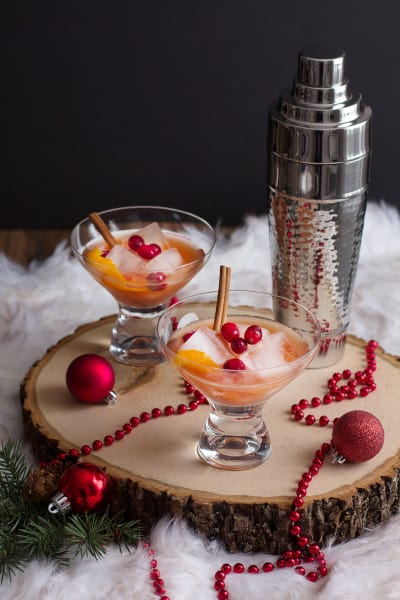 Spiced Cranberry Rum Old Fashioned Picture