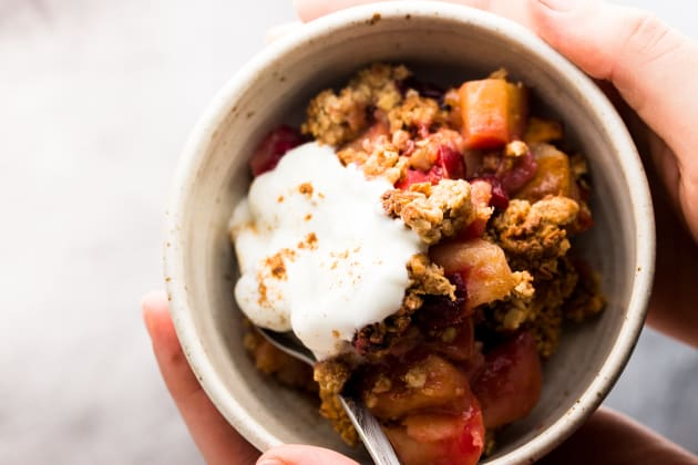 Healthy Cranberry Apple Crisp