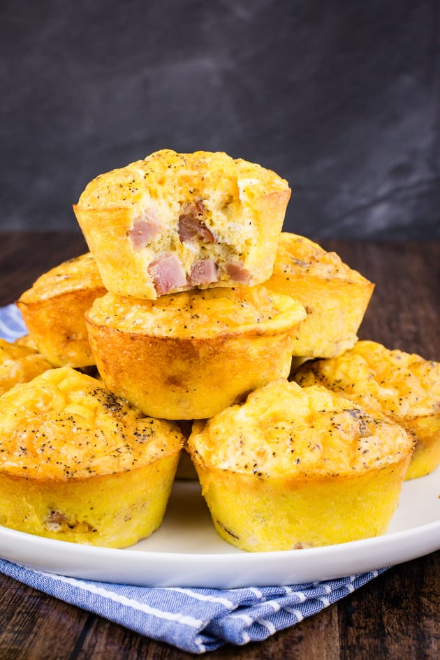 Baked Ham And Cheese Egg Muffins Recipe Food Fanatic
